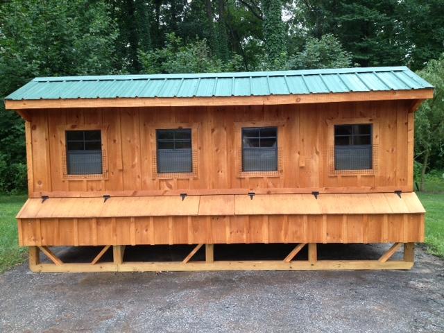 6 215 24 Chicken Coop Amish Built Chicken Coops