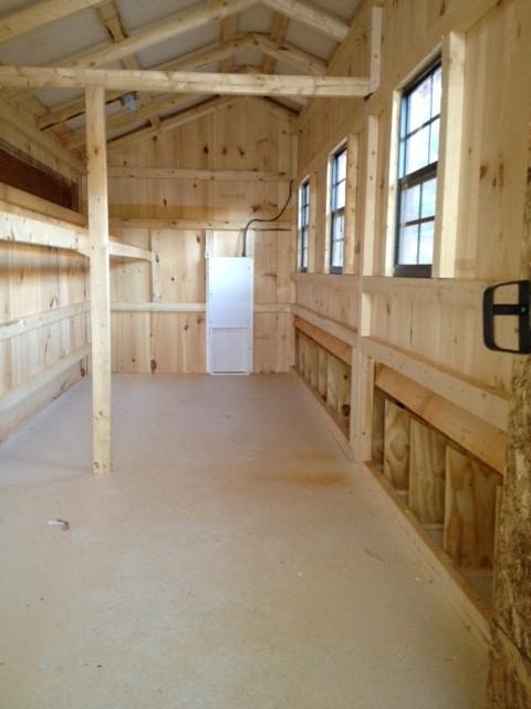 6 215 19 Chicken Coop W Storage Room Amish Built Chicken Coops